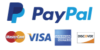 Payment Methods - Paypal & Major Credit Cards
